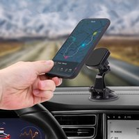 Wholesale car phone cup holder resale online - Hands Free Suction Cup Magnet Phone Holder in Car Dashboard Windshield Mount with Degree Rotation