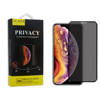 emballage iphone anti-reflets achat en gros de-Protecteur d'écran anti-éblouissement anti-éblouissement anti-espionnage pour iPhone 11 Pro Max XR anti-éclaboussures 3D pour iPhone 6 7 8 8 avec boîtier