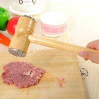 rinderhammer großhandel-Küche Doppel Pyramidenförmige Steak Schweinefleisch Hacken Schnelle Lose Köpfe Fleischklopfer Fleischhammer Für Rindfleisch Kalbfleisch