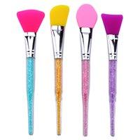 maskenbürstenwerkzeug großhandel-Professionelle Silikon Gesichtsmaske Schlamm Mischen Pinsel Werkzeuge Hautpflege Beauty Foundation Make-Up Pinsel Werkzeuge RRA1330