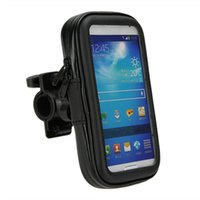 стойка mtb оптовых-Hot New Bicycle Motorcycle MTB Phone Holder Mobile Stand Support GPS Bike Holder Waterproof Bag Bicycle Accessories