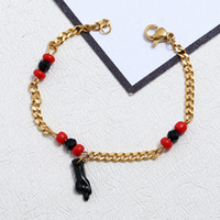 Wholesale hot figure women for sale - Group buy Titanium Steel Anklet Jewelry Gold Plated Ankle Bracelets Hand Pendant Baby Children Foot Chain Hot Sale dx UU