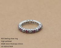 schöne silberne ringe großhandel-Brandneue 925 Sterling Silber Modeschmuck Vintage American Style Designer Ringe mit Steinen schönes Geschenk K3533