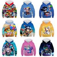 Wholesale boy hoodie star sleeves for sale – custom 18 Styles Brawl Stars D Printed Hoodies Sweatshirt Children Autumn Spring Long Sleeve Tops Tees Kids Boys Girls Hoodie Clothes M278