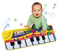bebé musical jugando tapete al por mayor-[ARRIBA] Baby Music Sport Game Play Singing Mat 72 * 28cm Kids Piano Keyboard para Animal Toy musical Alfombra Rastreo tapete de regalo regalo