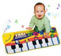 ingrosso stuoia di tappeto musicale-[TOP] Baby Music Sport Gioco Gioca Singing Mat 72 * 28 cm Bambini Tastiera di pianoforte per Animal Toy musical Tappeto Crawling playmat regalo