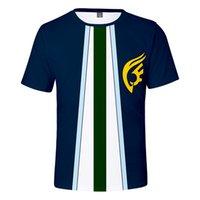 cauda feericamente camiseta venda por atacado-Fairy Tail 3D Imprimir Mens T-shirt Tendência Da Moda de Verão Bonito e espirituoso Dos Homens T-Shirt 3D Fada Cauda Tops