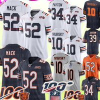 ingrosso maglie-52 Khalil Mack Chicago sopporta maglia 34 Walter Payton 10 Mitchell Trubisky Maglia 100 ° Anniversario 39 Jackson Calcio Maglie