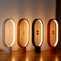 denge gücü toptan satış-Yeni Heng LED Denge Lambası Gece Lambası USB Powered Ev Dekor yatak odası Ofis Gece Lambası Roman Işık Noel Hediyesi Işık