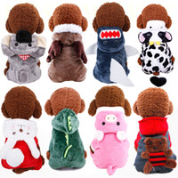 Wholesale clothes rounding for sale - Group buy 21 Designs cute dog costume transformed dress coral fleece material pet dog warm clothes dog apparel decoration for autumn winter