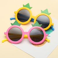 Wholesale silicone sunglasses resale online - Children s round frame crown personalized fashion silicone polarized sunglasses Boys girls street snap outdoor beach sunglasses