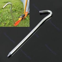 Wholesale peg hooks resale online - M89 Inch Outdoor Camping Hiking Aluminum Tent Pegs Stakes Hook Ground Pin New