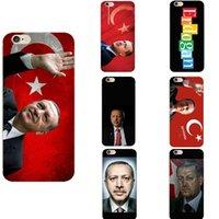 bilder telefongehäuse großhandel-Türkei präsident türkei recep tayyip erdogan thema nationalflagge weiche tpu phone cases cover foto bild für iphone 6 7 8 s xr x plus max