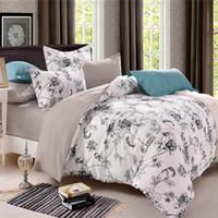 ingrosso lenzuola di lusso cinesi-Set di biancheria da letto in cotone di stile country cinese di lusso Set di trapunte in cotone di cotone / Queen Size
