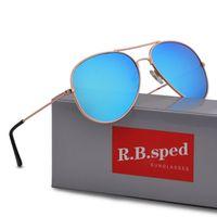 gözlük erkek toptan satış-Marka tasarım Erkekler kadınlar için Polarize Pilot Güneş Gözlüğü Erkek Sürüş gözlük Yansıtıcı Kaplama Gözlük ulculos gafas de sol kutusu ve ...