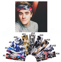 Wholesale tennis sweatband for sale - Group buy Men Sport Camouflag Headband Elastic Fitness Yoga Sweatband Women Outdoor Gym Running Tennis Basketball Wide Hair Bands ZZA1009