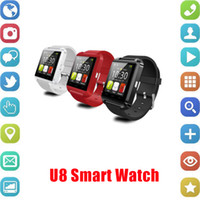 Wholesale gift box for camera resale online - Smart Watch U8 Smartwatch U Watch For iOS iPhone Samsung Sony Huawei Android Phones In Gift Box