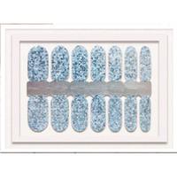 nagelkunst aufkleber streifen großhandel-Mädchen Frauen Glitter Geschenkverpackungen Kunst Full Cover Nail Sticker Zubehör Maniküre Dekoration Polish Adhesive Decal Strips