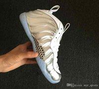 Wholesale foam shoes for men for sale - Group buy New Penny Hardaway Basketball Shoes For Men White Silver Sports Sneakers Foam One Mens Designer Trainers Foams Shoes Size US
