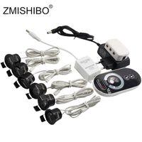 mini luzes embutidas led venda por atacado-ZMISHIBO LED Mini Teto Downlights Set Luzes Reguláveis 1.5 W 27mm Corte Furo Recesso Prateado Lâmpada de Controle Remoto Do Armário 85-265 V