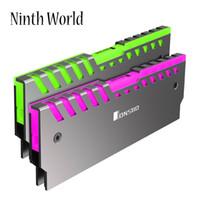 ailettes de radiateur achat en gros de-2 PC Mémoire RAM RGB Refroidisseur HeatSink Refroidissement Gilet Fin Rayonnement Dissiper Le Support Carte Mère AURA Contrôle Couleur Pour DDR DDR3 DDR4