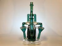bongs torcidos al por mayor-NEXUS, un reciclador giratorio giratorio incycler klein whirpool plataforma petrolera bong de vidrio tubería de agua