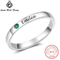 Wholesale genuine 925 jewelry for sale - Group buy Genuine Sterling Silver Ring for Women Sliver Ring Personalized Birthstone Fine Jewelry Unique Gift Lam Hub Fong