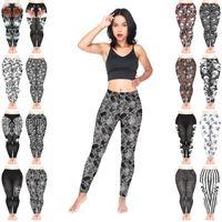 28eea0ad7639 Wholesale tattoo leggings online - Women Leggings Mix Styles Skull Faces  Pattern Roses Ornament Muerte Nightmare