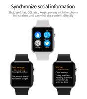 relojes de pantalla de espejo al por mayor-Goophone Watch I2SPRO 1.54 pulgadas HD Pantalla táctil Zafiro Espejo de carga inalámbrica MTK2502C 350mAh batería para Android iOS Smartphone