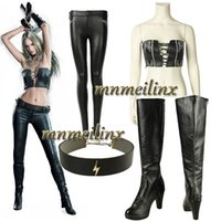Wholesale Devil May Cry DMC Trish Gloria Cosplay Costume with Boots Lady Mary Women Sexy Fancy Suit Halloween Outfit Customize Clothes