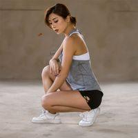polverschleiß großhandel-PROBRA Gym Sport Workout Shorts für Frauen Compression Shorts Yoga für aktive Abnutzung Pole Fitness Sexy Solide # 256697