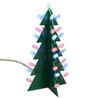 Wholesale electronic circuits for sale - Group buy DIY Kit Christmas Trees LED Circuit Electronic Board Module Flash Light Electronic Suit Holiday Decoration