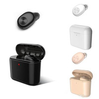 Wholesale bluetooth invisible mini resale online - Hot stereo bluetooth Wireless Earphone BL1 single with Charging Box top Quality invisible mini Earbuds Small Headset Drop Shipping
