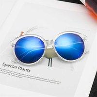plastik frosch augen großhandel-New trend kunststoff cat eye sonnenbrille frosch spiegel mode retro persönlichkeit sonnenbrille uv schutz sonnenbrille uv400