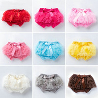 Wholesale toddlers lace underwear for sale - Group buy Baby bloomers Toddler elastic mesh bow lace pp pants infant shorts pant briefs bloomer underwear girls Panties kids boutique clothing