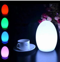 Wholesale led bar table lamp rechargeable resale online - 16 Color RGBW LED Night Light Charging Bar Table Lamp Illuminated Intelligent Remote Control Restaurant Hotel Bedside Decoration Egg light