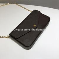 Woman Bag handbag purse original box date code women fashion wholesale checker plaid flower