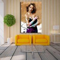 schlafzimmer malerei porträts großhandel-Lea Seydoux Porträt Von Yann Dalon Leinwand Malerei Druck Schlafzimmer Wohnkultur Moderne Wandkunst Ölgemälde Poster Salon Bilder