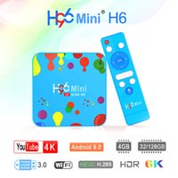 Wholesale android tv box blue resale online - H96 Mini Android TV Box Allwinner H6 G G G G K USD3 Dual Wifi Smart TV BOX IPTV Box