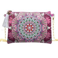 Wholesale body painting party for sale - Group buy 2020 New Trend D Diamond Painting Wallet Crossbody Chain Bag with Large Capacity Ethnic Style Handmade Shoulder Pack
