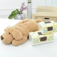 Wholesale plush rolling papers resale online - Car Tissue Box Cartoon Plush Dog Toy Cute Car Tissue Box Stuffed Animal Dog Paper Sleeve Roll Home Office Decor Gift