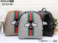 sacs à dos de dragon achat en gros de-Nouveau G Sac À Dos Hommes Femmes Kingsnake Cock Dragon Marque Designer G Célèbre Sac À Dos Floral Brodé Abeille En Cuir Sacs À Dos Sacs Pour Dames