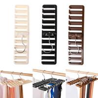 стойка для шкафчика оптовых-Шкаф хранения пояса 10 решеток 30.5*7.3*1.4 см галстук пояса шарф стойку организатор шкаф шкаф Space Saver топы вращающийся Вешалка держатель OOA6049