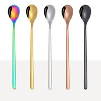 Wholesale coffee spoon for sale - Colorful Spoon Stainless Steel Coffee Spoons Flatware Ice Cream Drinking Tools Kitchen Gadget Spoon Kitchen Accessories