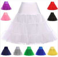 organza petticoat underskirt toptan satış-Kısa Organze Petticoat Kabarık Etek Vintage Düğün Gelin Gelinlik için Petticoat Jüpon Rockabilly Tutu Kaya ve Bale Etek mc1