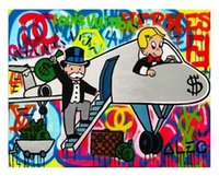 Wholesale canvas prints oil paintings for sale - Group buy Hot f Airplane Alec Monopoly High Quality HD Print Abstract Oil Painting on Canvas Graffiti Wall Art Home Decor Multi Sizes Options