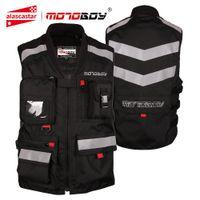 malla de montar chaquetas de moto al por mayor-MOTOBOY Chaqueta de moto Equipo de protección Ropa de moto reflectante Malla Motocross Off-Road Racing Vest Night Riding Moto Jacket