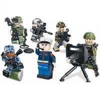 Wholesale military toys for boys for sale - Group buy 6pcs United States Marine Corps USMC American Solider Military Special Force Action Figure With Weapon Building Blocks Brick Toy For Boy
