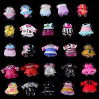 bebek elbisesi diy toptan satış-15 adet lol serisi için orijinal giysi 3 4 5 Kız Bebek Aksesuarları DIY bebek Elbise Farklı giysi Oyuncaklar Bebek Çoc ...