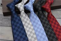 corbatas de diseñador vintage al por mayor-Top usiness tie hombres moda casual vintage diseñador de lujo corbata marca caja empaquetado